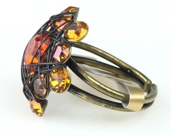 Konplott Bended Lights Ring in Orange/ Gelb 5450527760003