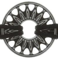 Vorschau: Konplott Festival Armband in schwarz/weiß Silberfarben 5450543747453