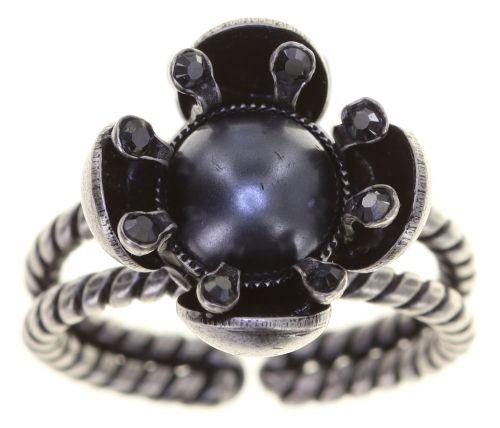Konplott Petit Fleur de Bloom Ring in schwarz carbon bloom 5450543799131