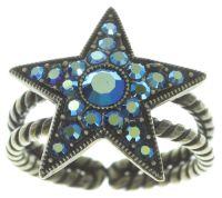 Vorschau: Konplott Dancing Star Ring in blau Größe M 5450543774107
