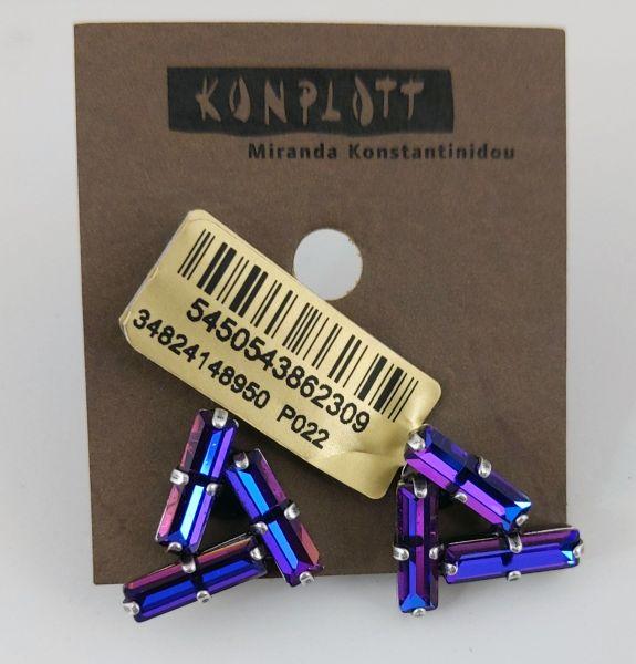 Konplott Jumping Baguette Ohrstecker Fire Violet 5450543862309