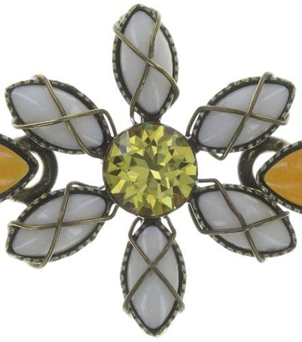 Konplott Psychodahlia Armband in gelb Messing 5450543730967