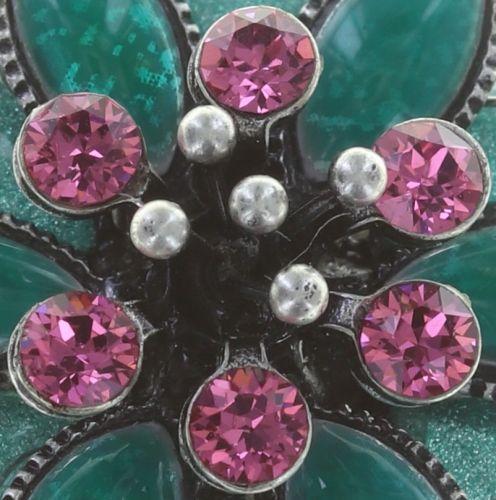 Konplott Psychodahlia Ohrclip multi Silberfarben 5450543734675
