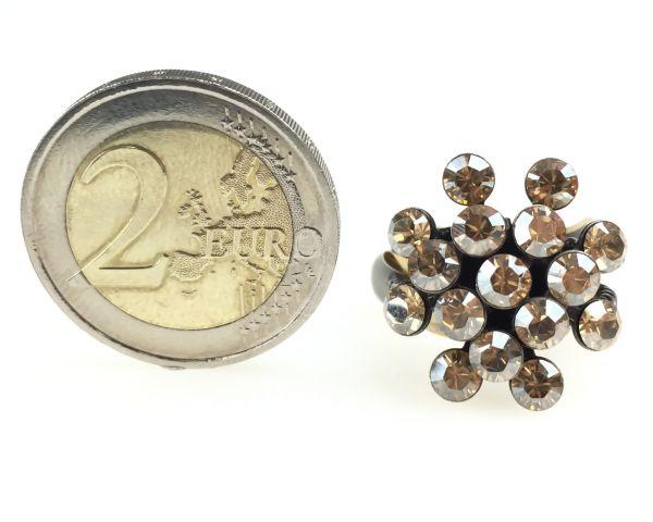 Konplott Magic Fireball 16 Stein Ring in crystal golden shadow 5450527640077