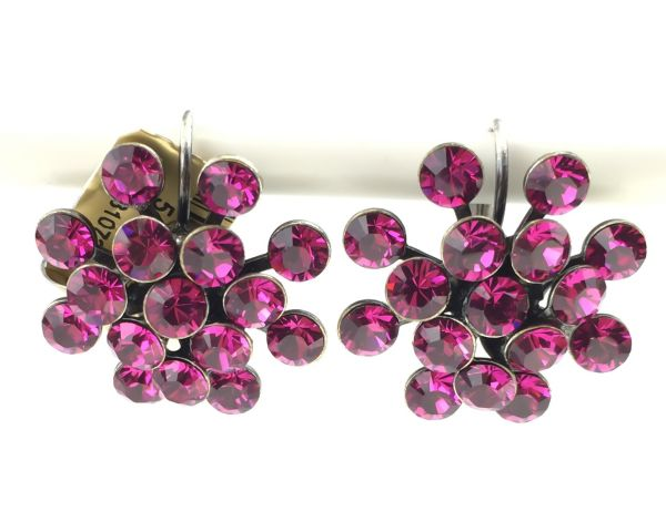 Konplott Magic Fireball Ohrhänger mit Klappverschluss in fuchsia, pink 5450527611879