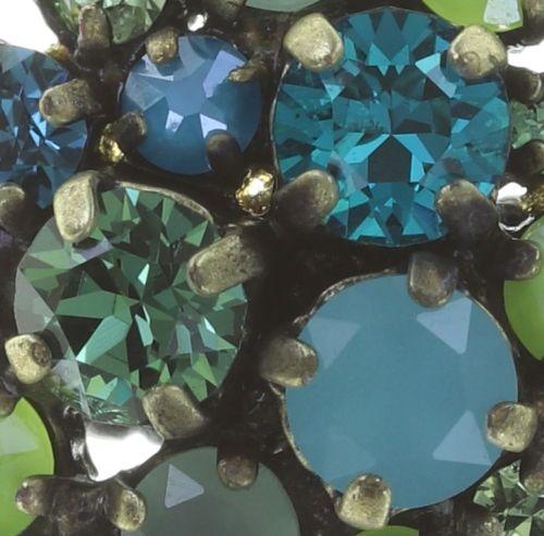 Konplott Ballroom Ring in blau/grün 5450543725901