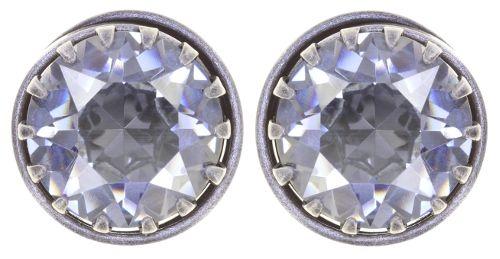 Boho Twist Ohrstecker in grau crystal blue shade