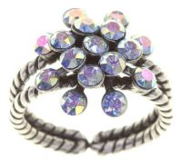 Magic Fireball Ring Mini Aurora Borealis in blau/lila