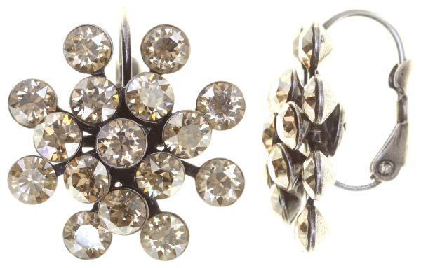Konplott Magic Fireball Ohrhänger mit Klappverschluss in crystal golden shadow 5450527640060