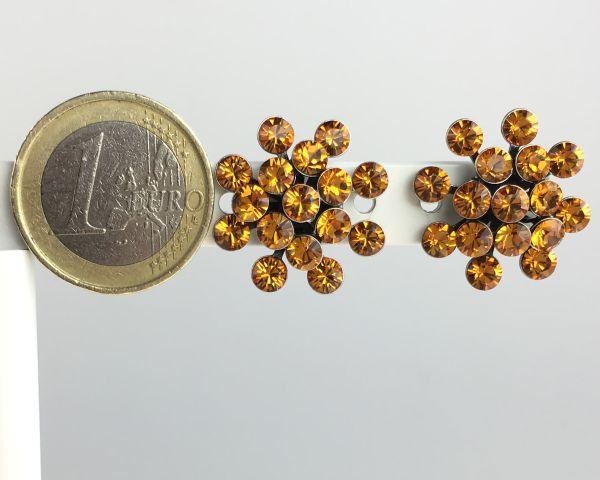 Konplott Magic Fireball Ohrstecker klassisch in topaz, gelb/braun 5450527640572