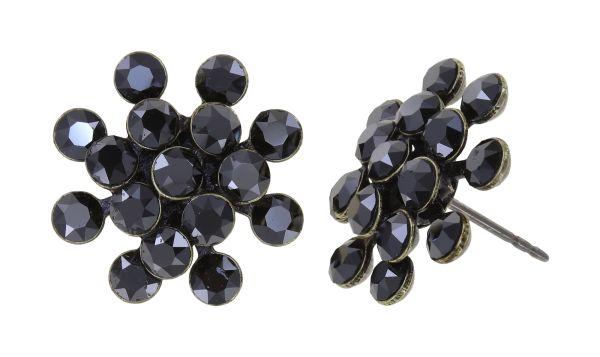 Konplott Magic Fireball Ohrstecker in black jet hematite mini 5450543914848