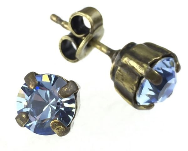 Konplott Black Jack Ohrstecker klassisch eckig in Light Sapphire 5450527110792