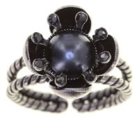 Konplott Petit Fleur de Bloom Ring in schwarz carbon bloom 5450543799131