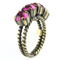 Konplott Colour Snake Ring in fuchsia, pink 5450527257084