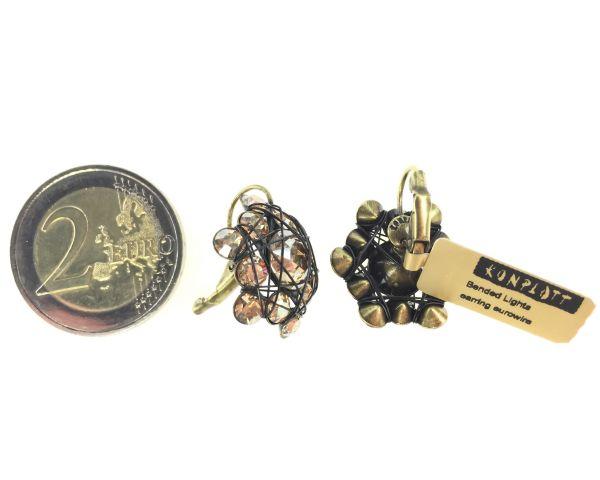 Konplott Bended Lights Ohrhänger mit Klappverschluss in hellbraun/beige 5450527729741