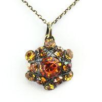 Vorschau: Konplott Bended Lights Halskette mit Anhänger in Orange/ Gelb 5450527758932