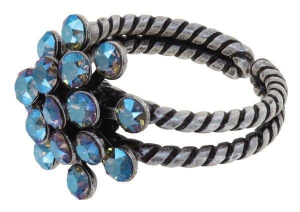 Konplott Magic Fireball Ring in blue black diamond shimmer mini 5450543914794
