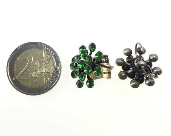 Konplott Magic Fireball Ohrhänger mit Klappverschluss in Farn grün 5450527778275