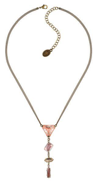 Konplott Mix the Rocks Y-Halskette in rosa crystal blush 5450543790312