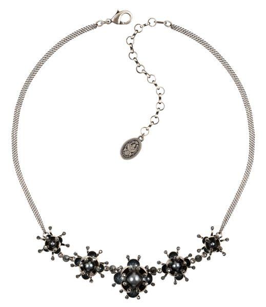 Konplott Petit Fleur de Bloom Halskette in schwarz carbon bloom 5450543855356