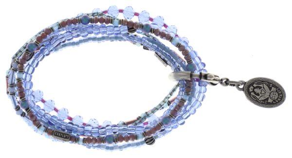 Konplott Petit Glamour d'Afrique Armband in lila/blau 5450543722351