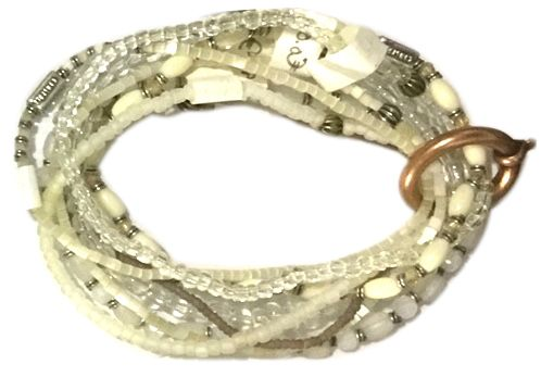Konplott Petit Glamour d'Afrique Armband in weiß 5450543786056