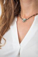 Magic Fireball chrysolite grün opal Halskette steinbesetzt