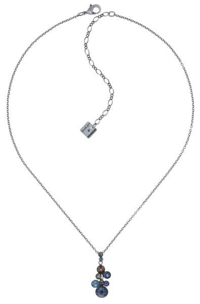 Water Cascade Halskette mit Anhänger in blau/braun