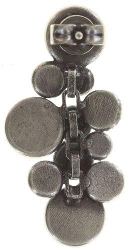 Konplott Water Cascade Ohrstecker in schwarz antik silber 5450543686110