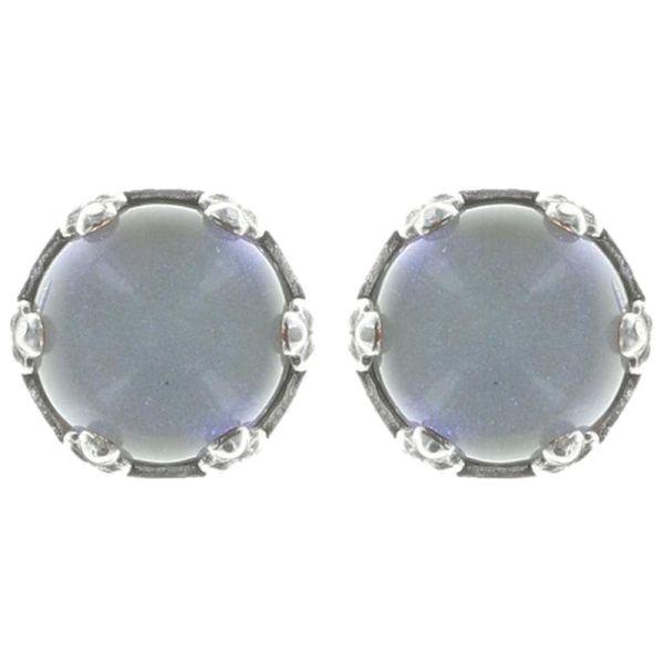 Konplott Jelly Star Ohrstecker klein in hellem weiß, blau shimmer 5450543719818