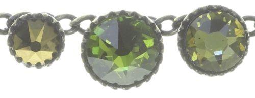 Konplott Water Cascade steinbesetzte Halskette in grün 5450543772967