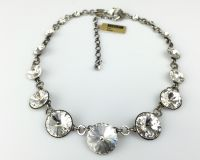 Vorschau: Konplott Rivoli crystal weiße Halskette steinbesetzt 5450527558105