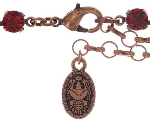 Konplott Colour Snake Halskette in coralline/rot 5450543697925