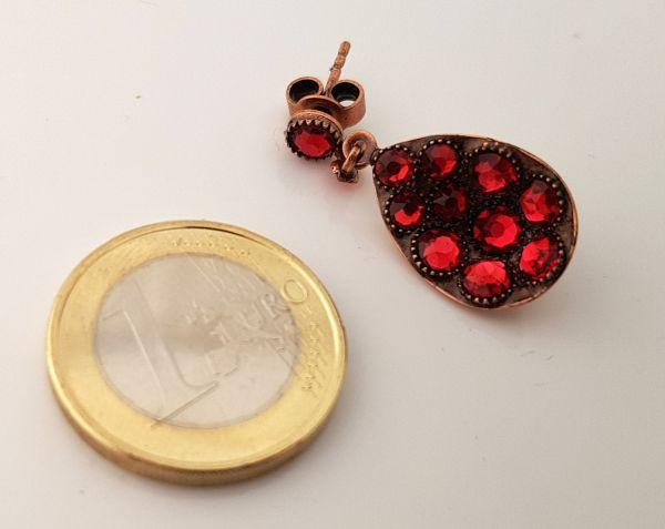 Konplott Tears of Joy Ohrstecker hängend in coralline scarlet rot Größe M 5450543763644