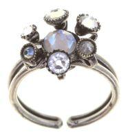 Konplott Alien Caviar Ring Crystal Clear in weiß 5450543895796
