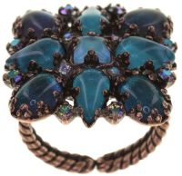 Mary Queen of Scots Ring Blue Flame