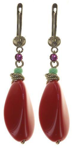 Konplott Tropical Candy Ohrhänger mit Klappverschluss - Multifarben/Rot 5450543799858