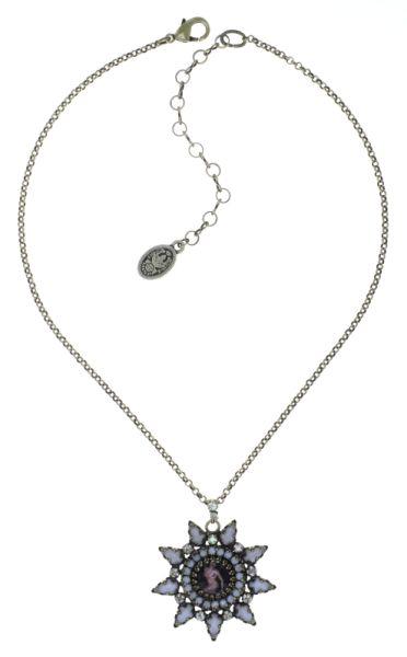 Konplott Striptease Halskette mit Anhänger in schwarz/weiß Größe M 5450543776316
