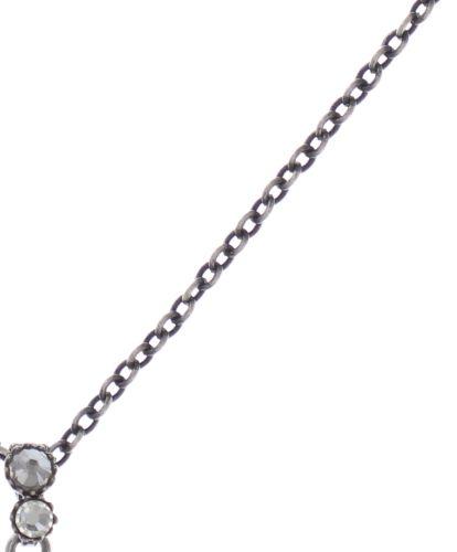 Konplott Water Cascade Halskette mit Anhänger in weiß antik silber 5450543686165