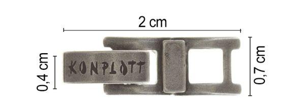 Konplott Armband Verlängerung klein in silber 5450527800495